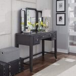 Classic Contemporary Gray Vanity and Mirror – 5th Avenue