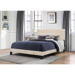 Classic Contemporary Linen King Upholstered Bed – Delaney