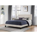 Classic Contemporary Linen Queen Upholstered Bed – Delaney