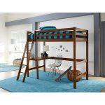 Classic Contemporary Walnut Twin Loft Bed – Caspian