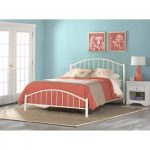 Classic Contemporary White Full Metal Bed – Cottage