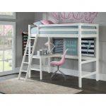 Classic Contemporary White Twin Loft Bed – Caspian