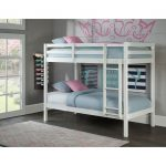 Classic Contemporary White Twin-over-Twin Bunk Bed – Caspian