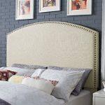 Classic Cream Upholstered King Headboard – Cassie
