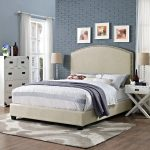 Classic Creme Queen Upholstered Bed – Cassie
