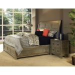 Classic Gray-Brown Queen Sleigh Bed – Beckham