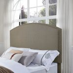 Classic Gray Upholstered King Headboard – Cassie