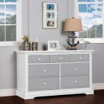 Classic Gray and White Dresser – Parker