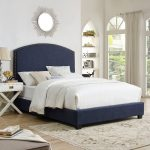 Classic Navy King Upholstered Bed – Cassie