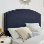Classic Navy Upholstered King Headboard – Cassie