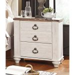 Classic Rustic Whitewashed Nightstand – Millhaven
