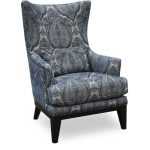 Classic Sapphire Blue Wing Chair – Admiral