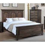 Classic Traditional Antique Brown Queen Size Bed – Campbell