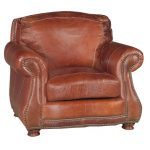 Classic Traditional Brandy Brown Leather Chair