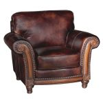 Classic Traditional Brown Leather Chair – Toberlone
