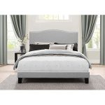 Classic Traditional Gray Full Upholstered Bed – Kiley