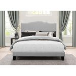 Classic Traditional Gray King Upholstered Bed – Kiley