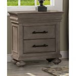 Classic Traditional Gray Nightstand – Hudson Square