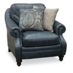 Classic Traditional Navy Blue Leather Chair – Admiral