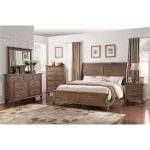 Classic Traditional Oak 6-Piece King Bedroom Set – Franklin