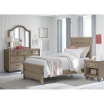 Classic Weathered Gray 6-Piece Full Bedroom Set – Heather