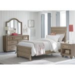 Classic Weathered Gray 6-Piece Twin Bedroom Set – Heather