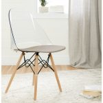Clear and Gray Eiffel Style Chair – Annexe