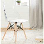 Clear and White Eiffel Style Chair – Annexe