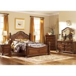 Cognac Brown Traditional 6 Piece King Bedroom Set – Messina