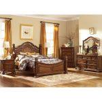 Cognac Brown Traditional 6 Piece Queen Bedroom Set – Messina