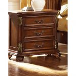 Cognac Brown Traditional Nightstand – Messina