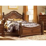 Cognac Brown Traditional Queen Size Bed – Messina
