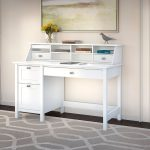 Computer Desk with 2 Drawer Pedestal and Organizer – Broadview
