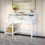 Computer Desk with Open Storage and Desktop Organizer – Broadview