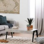 Concrete Gray and Black Coffee Table – City Life