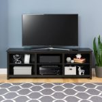 Contemporary 72 Inch Black TV Stand – Sonoma