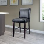 Contemporary Black Counter Stool