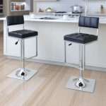 Contemporary Black and Chrome Barstool