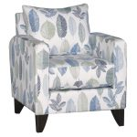 Contemporary Blue & White Leaf Chair – Bryn