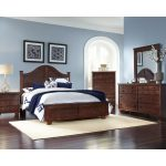 Contemporary Brown 6-Piece Full Arch Bedroom Set – Diego