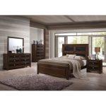 Contemporary Brown 6-Piece Queen Bedroom Set – Sussex