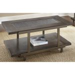 Contemporary Brown Coffee Table – Terrell