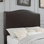 Contemporary Brown Full-Queen Upholstered Headboard – Bellingham