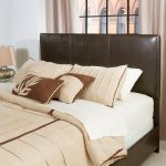 Contemporary Brown Full-Queen Upholstered Headboard – Drake