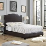 Contemporary Brown Queen Upholstered Bed – Bellingham