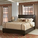 Contemporary Brown Queen Upholstered Bed – Drake