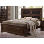 Contemporary Cappuccino Brown King Size Bed – Sussex