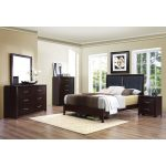 Contemporary Casual Espresso 6-Piece King Bedroom Set – Edina