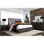 Contemporary Charcoal 6-Piece Queen Bedroom Set – Tivoli