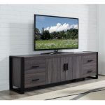 Contemporary Charcoal 70 inch TV Stand